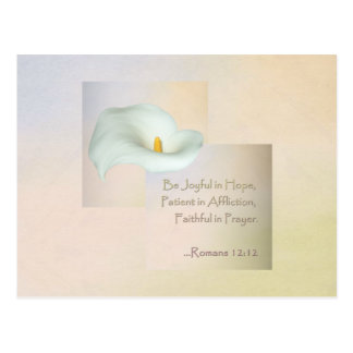Christian Faith Art ~ Romans 12:12 Postcard