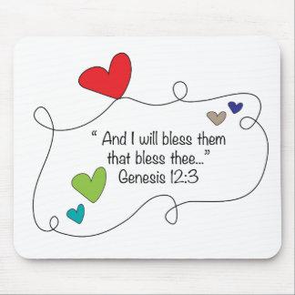 Christian Faith Blessing hearts Genesis 12:3 Mouse Pad