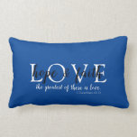 Christian Faith Blue Lumbar Pillow