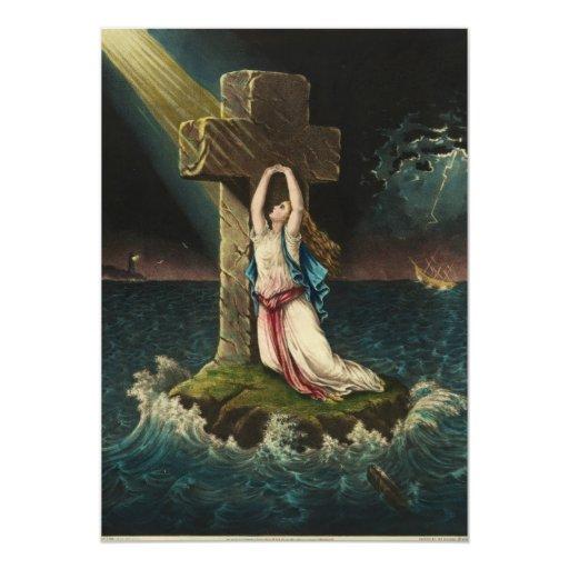 Christian Faith by George Schlegel 5x7 Paper Invitation Card