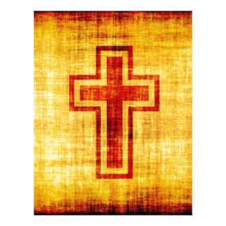 Christian Faith Cross on Parchment Paper Letterhead