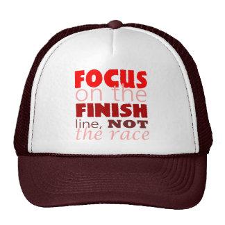Christian Faith FOCUS ON THE FINSIH LINE Trucker Hat