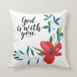 Christian Faith Inspirational Words Throw Pillow