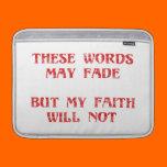 Christian Faith MacBook Sleeves