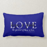 Christian Faith Navy Blue Lumbar Pillow