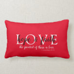 Christian Faith Red Lumbar Pillow