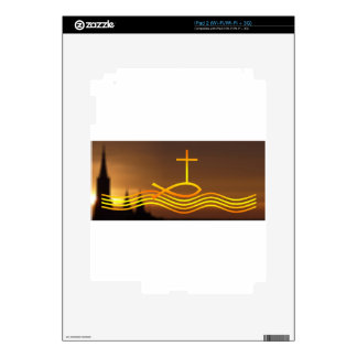Christian fish and Cross Decals For The iPad 2