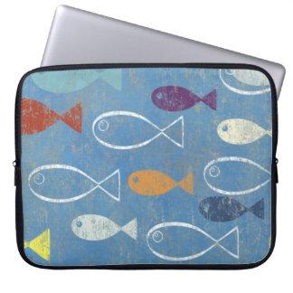 Christian Fish Art Laptop Sleeves