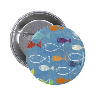 Christian Fish Art Pinback Button