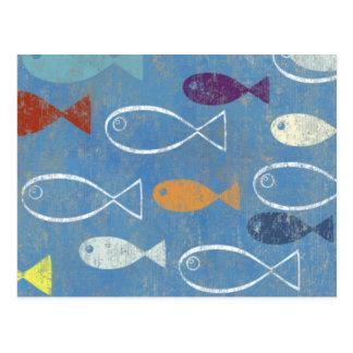 Christian Fish Art Postcard