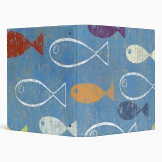 Christian Fish Art Vinyl Binder