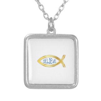 CHRISTIAN FISH BELIEVE CUSTOM NECKLACE