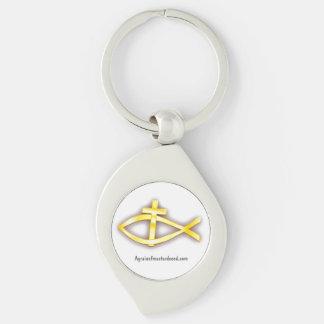 Christian Fish Cross Symbol Keychain