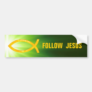 Christian Fish | Follow Jesus Bumper Sticker