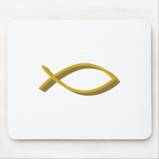CHRISTIAN FISH FULL FRONT MOUSE PAD