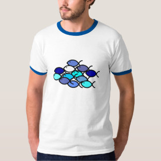 Christian Fish School - Blue and Aqua T-Shirt