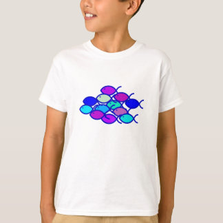 Christian Fish School - Purple and Blue T-Shirt
