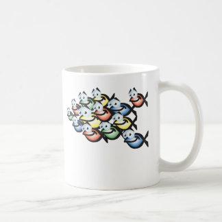christian fish shape coffee mug