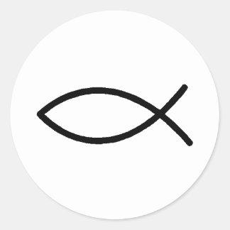 Christian Fish Round Sticker