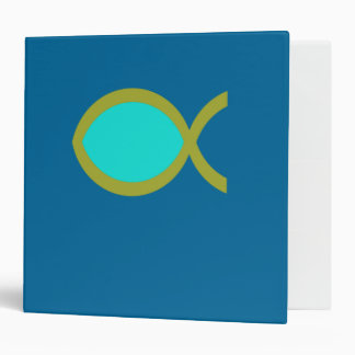 Christian Fish Symbol 3 Ring Binder