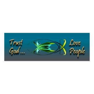 Christian Fish Symbol Background Card Mini Business Card