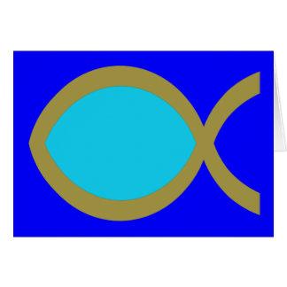 Christian Fish Symbol Card