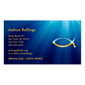 Christian Fish Symbol Double-Sided Standard Business Cards (Pack Of 100)