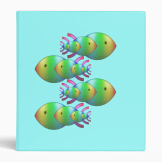 Christian Fish Symbol Families 3 Ring Binder