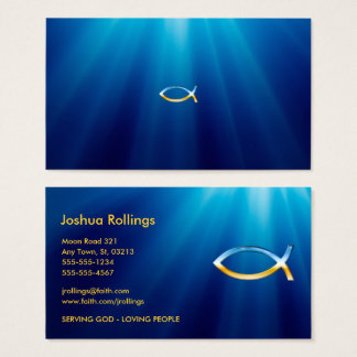 Christian business cards 2800 christian business card templates christian fish symbol inspirational business card reheart Gallery