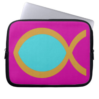 Christian Fish Symbol Laptop Computer Sleeves