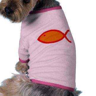Christian Fish Symbol - LOUD Orange and Red Pet Clothes