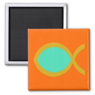Christian Fish Symbol Fridge Magnet