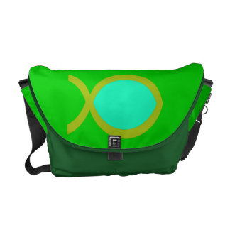 Christian Fish Symbol Messenger Bag