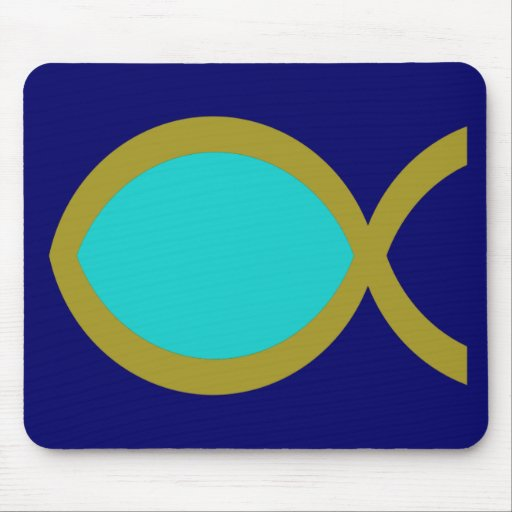 Christian Fish Symbol Mouse Pads