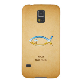 Christian Fish Symbol on vintage papirus Case For Galaxy S5