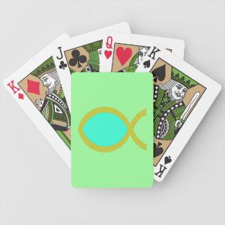 Christian Fish Symbol Bicycle Poker Cards