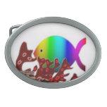 Christian Fish Symbol - Rainbow Ocean Belt Buckle