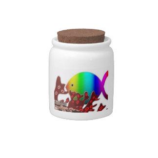 Christian Fish Symbol - Rainbow Ocean Candy Jars