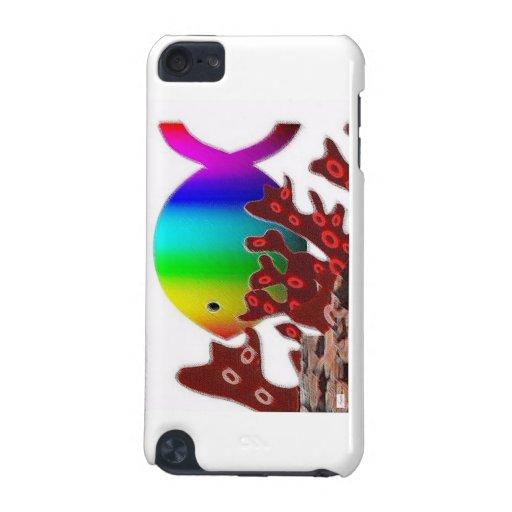 Christian Fish Symbol - Rainbow Ocean iPod Touch (5th Generation) Cases
