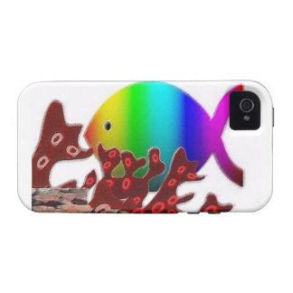 Christian Fish Symbol - Rainbow Ocean iPhone 4 Case