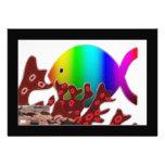 Christian Fish Symbol - Rainbow Ocean Custom Invites