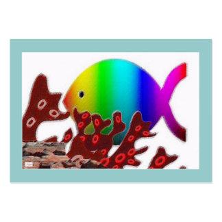 Christian Fish Symbol - Rainbow Ocean Large Business Card