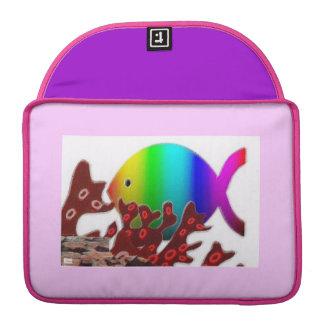 Christian Fish Symbol - Rainbow Ocean Sleeve For MacBooks