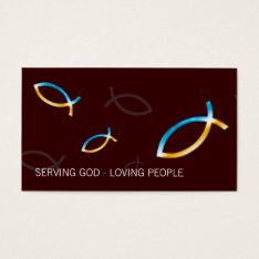 Christian Fish Symbol | Religion Business Card at Zazzle