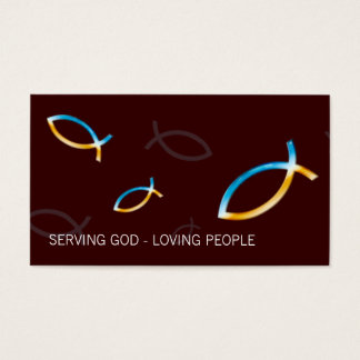 Christian Fish Symbol | Religion Business Card