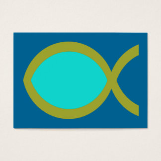Christian Fish Symbol Tract Card /