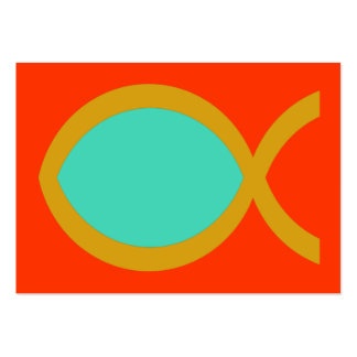 Christian Fish Symbol Tract Card / Large Business Card