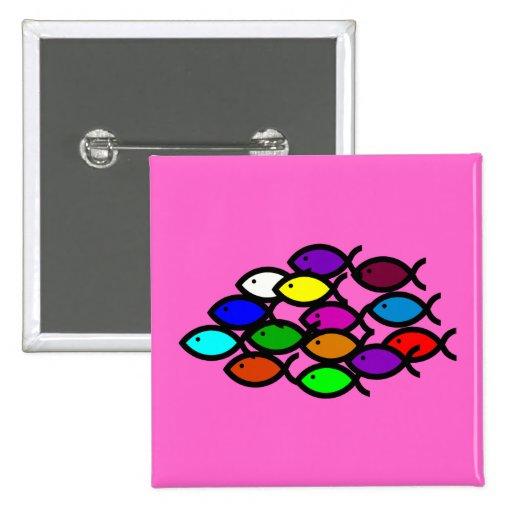 Christian Fish Symbols - Rainbow School - Pins