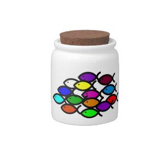 Christian Fish Symbols - Rainbow School - Candy Jars
