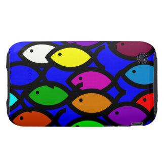 Christian Fish Symbols - Rainbow School - Tough iPhone 3 Cases